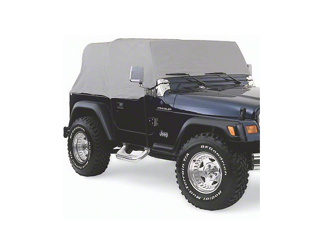 Smittybilt Water Resistant Cab Cover without Door Flaps; Gray (92-06 Jeep Wrangler YJ & TJ)