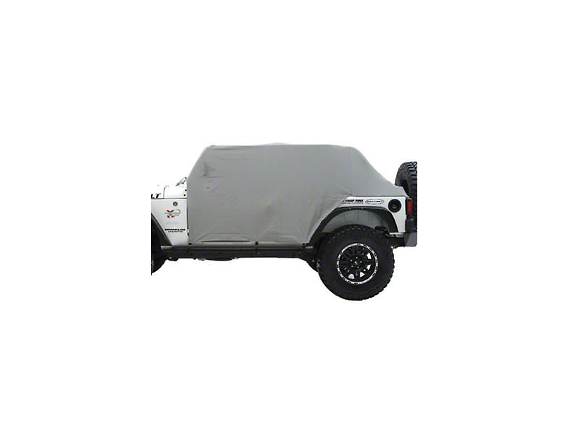 Smittybilt Water Resistant Cab Cover w/o Door Flaps - Gray (87-91 Jeep Wrangler YJ)