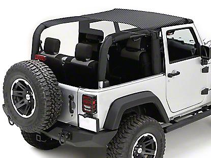 Rugged Ridge Mesh Summer Brief Top - Black (10-18 Jeep Wrangler JK 2 Door)