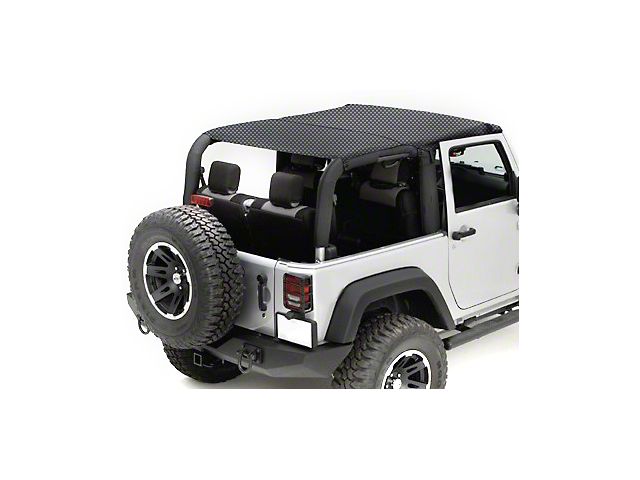 Rugged Ridge Mesh Summer Island Topper - Black (10-18 Jeep Wrangler JK 2 Door)