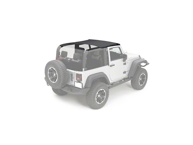 Rugged Ridge Pocket Summer Brief Top - Black Diamond (10-18 Jeep Wrangler JK 2 Door)