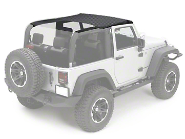 Rugged Ridge Pocket Summer Brief Top - Black Diamond (10-17 Wrangler JK 2 Door)