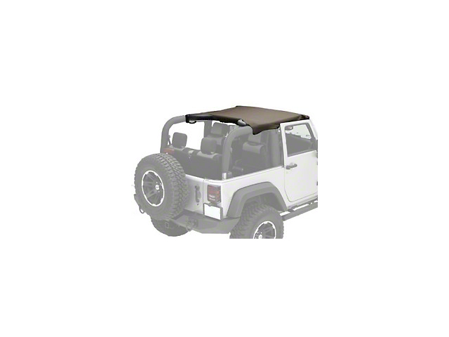 Rugged Ridge Pocket Brief Soft Top; Khaki Diamond (10-18 Jeep Wrangler JK 2 Door)