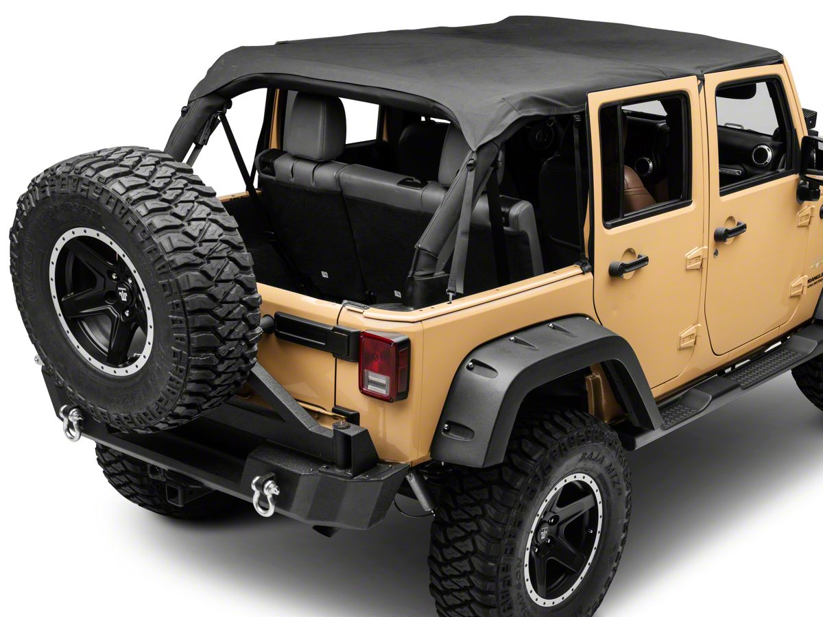 Smittybilt Jeep Wrangler Extended Top Black Diamond 94635 10 18 Jeep Wrangler Jk 4 Door
