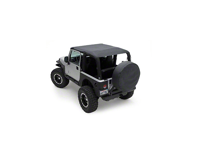 Smittybilt Extended Brief Top; Black Denim (92-95 Jeep Wrangler YJ)