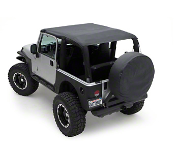 Smittybilt Extended Brief Top - Black Denim (92-95 Wrangler YJ)