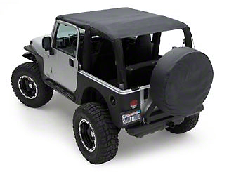 Smittybilt Extended Brief Top - Black Diamond (04-06 Wrangler TJ Unlimited)