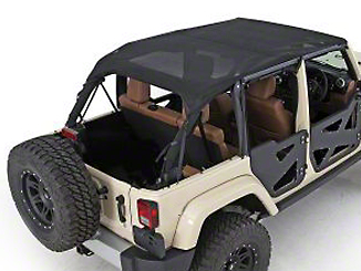 Smittybilt Mesh Extended Top (10-18 Jeep Wrangler JK 4 Door)