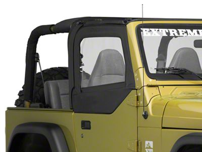 Bestop Replacement Fabric Upper Door Skins - Black Diamond (97-06 Jeep Wrangler TJ w/ Half Doors)