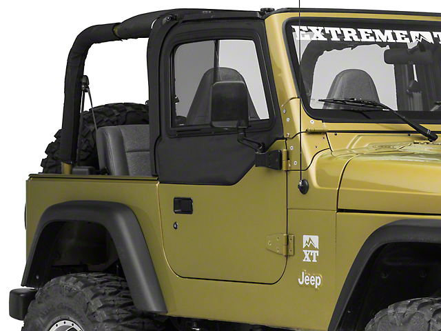 Bestop Upper Door Sliders for Factory Soft Top; Black Diamond (97-06 Jeep Wrangler TJ)