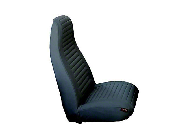 Bestop Factory High-Back Bucket Front Seat Covers; Tan (80-91 Jeep CJ5, CJ7 & Jeep Wrangler YJ)