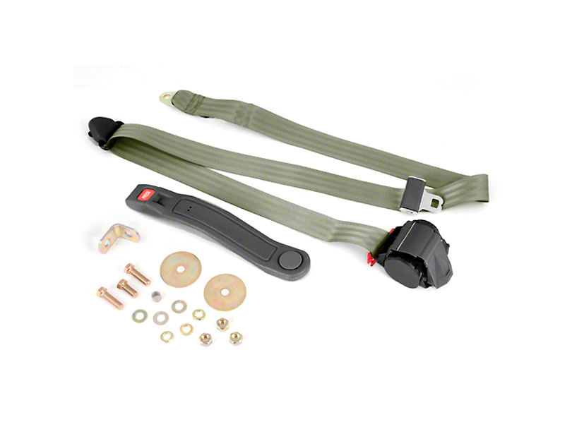 Retractable 3-Point Seat Belt - Olive Drab (87-95 Jeep Wrangler YJ)