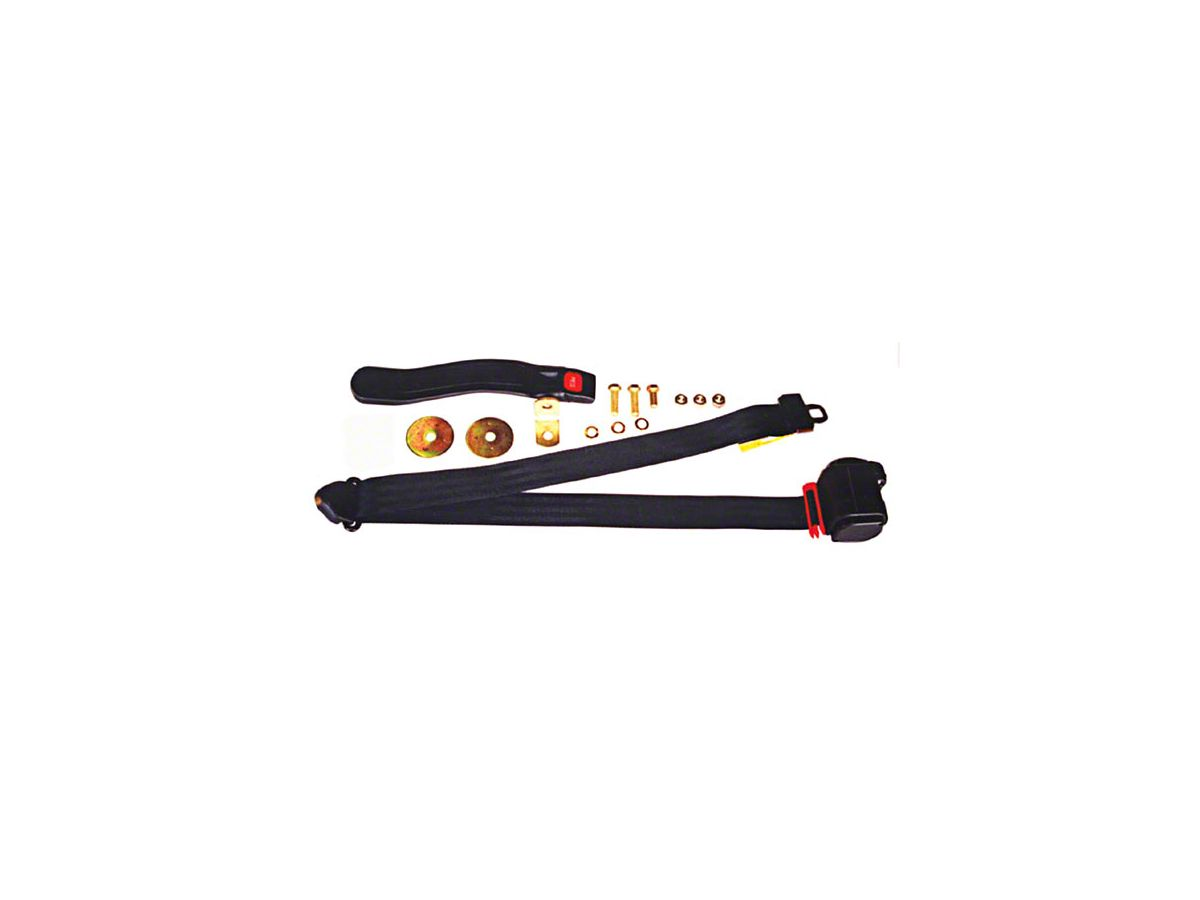 Retractable 3-Point Seat Belt - Black (87-95 Jeep Wrangler YJ)