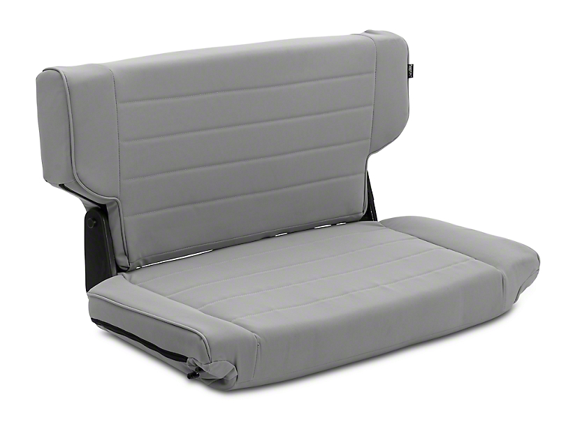 Rugged Ridge Fold & Tumble Rear Seat - Gray Denim (97-02 Wrangler TJ)