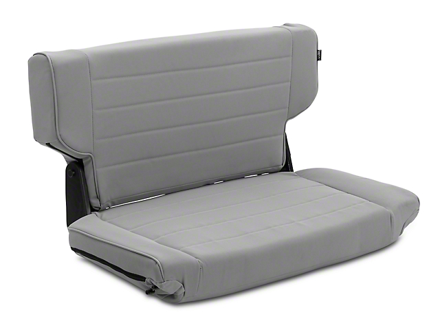 Rugged Ridge Fold & Tumble Rear Seat - Gray Denim (97-02 Jeep Wrangler TJ)