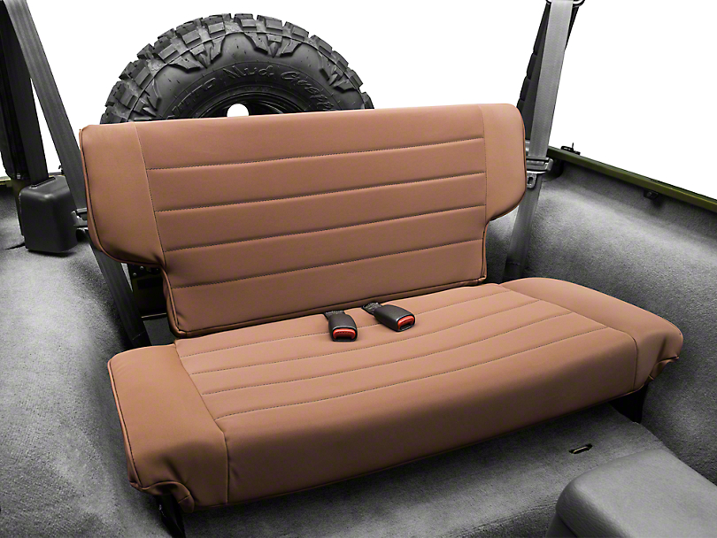 Rugged Ridge Fold & Tumble Rear Seat - Spice Denim (97-02 Wrangler TJ)