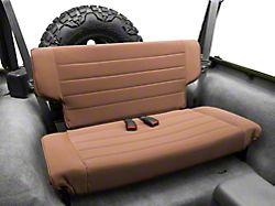 Rugged Ridge Fold and Tumble Rear Seat; Spice (97-02 Jeep Wrangler TJ)