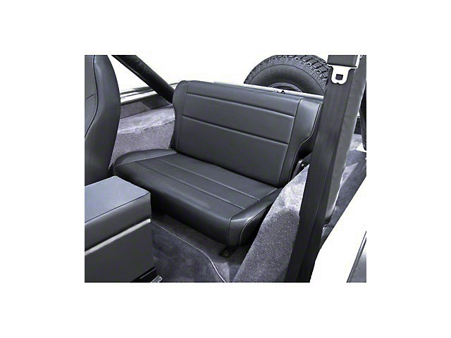 Rugged Ridge Fold and Tumble Rear Seat; Black Denim (87-95 Jeep Wrangler YJ)