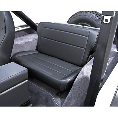 Rugged Ridge Fold & Tumble Rear Seat - Black Denim (87-95 Wrangler YJ)