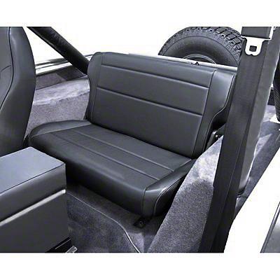 Rugged Ridge Fold & Tumble Rear Seat - Tan (87-95 Jeep Wrangler YJ)