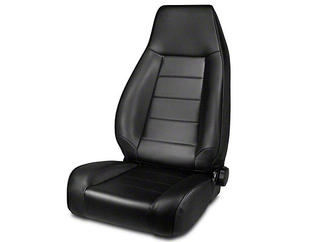 Rugged Ridge High-Back Reclining Front Seat; Black Denim (87-02 Jeep Wrangler YJ & TJ)