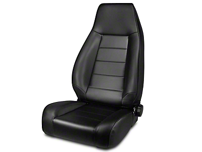 Rugged Ridge Reclining Front Seat - Black Denim (87-02 Wrangler YJ & TJ)