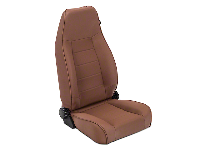 Rugged Ridge High-Back Reclining Front Seat; Nutmug (87-02 Jeep Wrangler YJ & TJ)