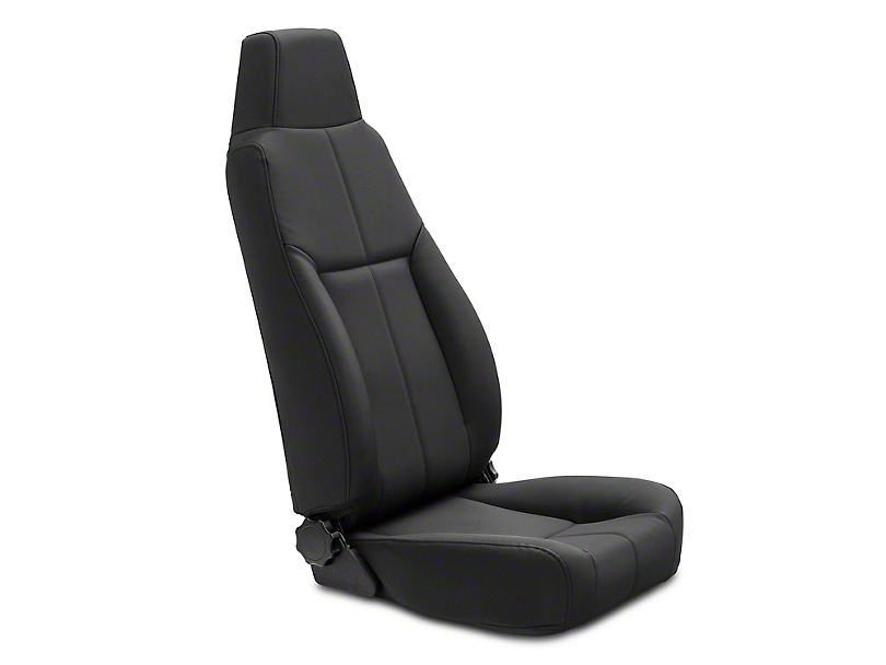 Rugged Ridge Reclining Front Seat w/ Headrest - Black Denim (87-02 Jeep Wrangler YJ & TJ)