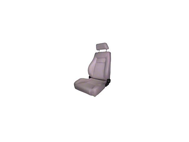 Rugged Ridge Reclining Front Super Seat w/ Headrest - Gray (87-02 Jeep Wrangler YJ & TJ)