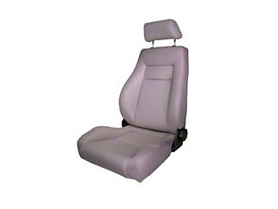 Rugged Ridge Reclining Front Super Seat w/ Headrest - Gray (87-02 Wrangler YJ & TJ)