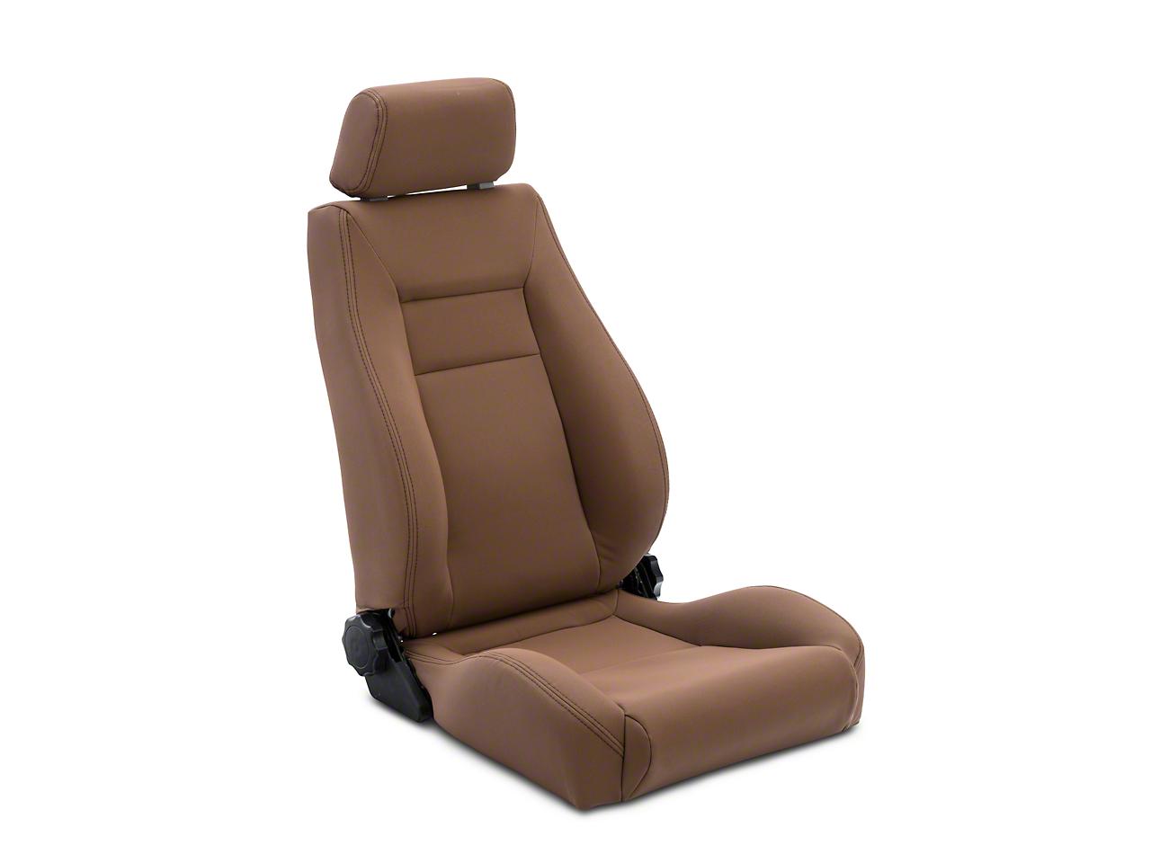 Rugged Ridge Reclining Front Super Seat w/ Headrest - Spice (87-02 Wrangler YJ & TJ)