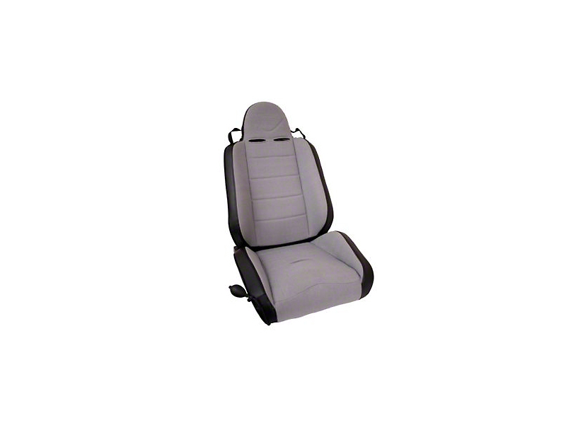 Rugged Ridge RRC Reclining Racing Seat; Gray (87-02 Jeep Wrangler YJ & TJ)
