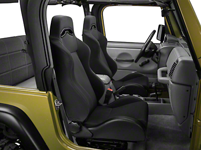 Rugged Ridge Sport Seat - Black Denim (87-02 Wrangler YJ & TJ)