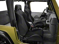 Rugged Ridge Sport Seat - Black Denim (87-02 Jeep Wrangler YJ & TJ)