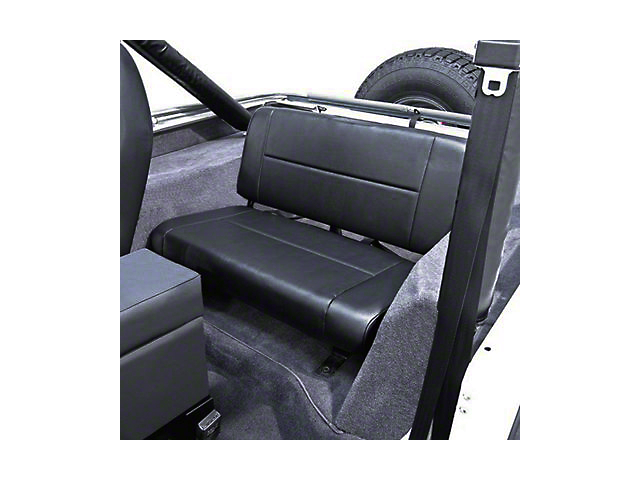 Rugged Ridge Fixed Rear Seat; Black (87-95 Jeep Wrangler YJ)