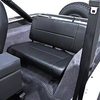 Rugged Ridge Standard Fixed Rear Seat - Black Denim (87-95 Jeep Wrangler YJ)