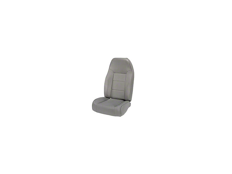 Rugged Ridge Standard Front Bucket Seat - Gray (87-02 Wrangler YJ & TJ)