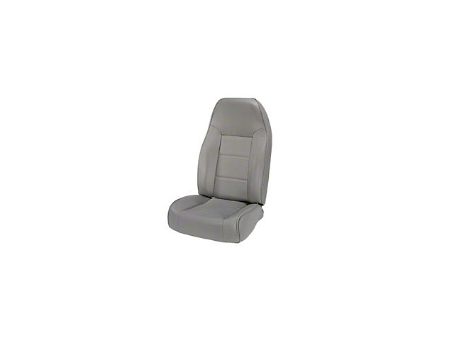 Rugged Ridge High-Back Front Seat; Gray (87-02 Jeep Wrangler YJ & TJ)