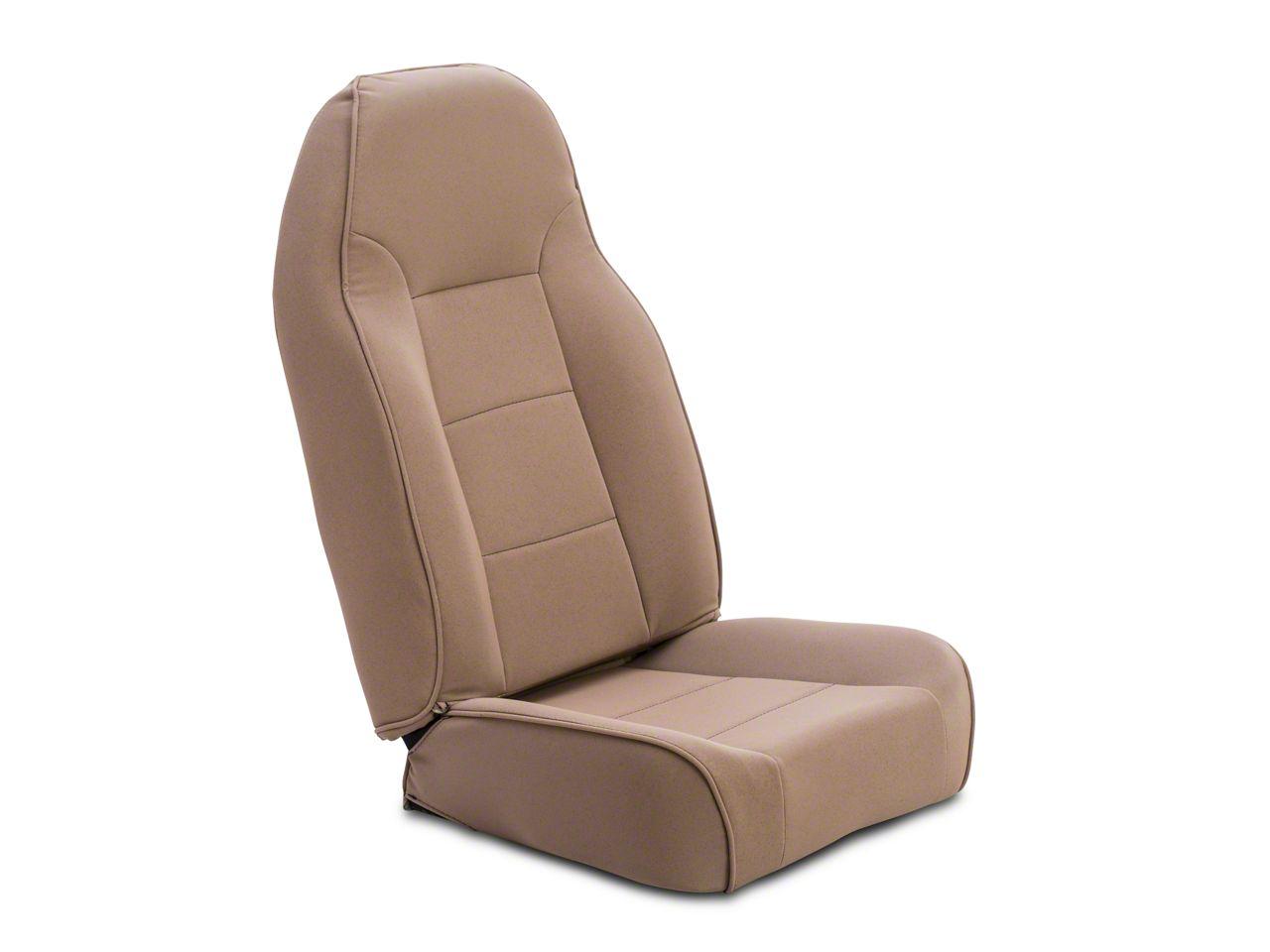 Rugged Ridge Standard Front Bucket High-Back Seat - Tan (87-02 Jeep Wrangler YJ & TJ)