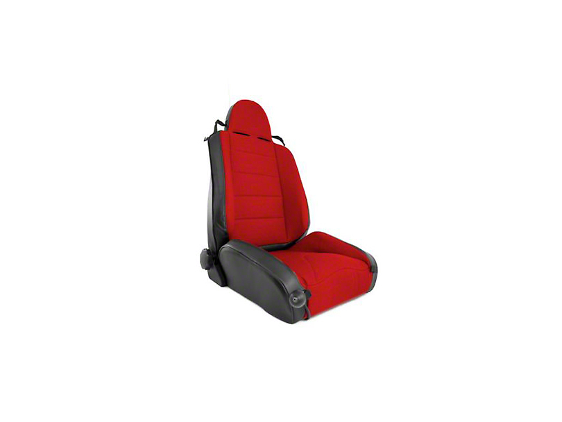 Rugged Ridge XHD Off Road Reclining Front Seat - Black/Red (97-06 Wrangler TJ)