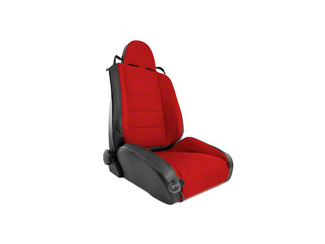 Rugged Ridge XHD Reclining Racing Seat; Red (97-06 Jeep Wrangler TJ)
