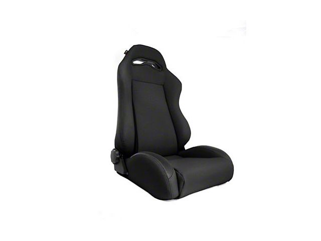 Rugged Ridge Sport Reclining Front Seat; Black Denim (97-06 Jeep Wrangler TJ)