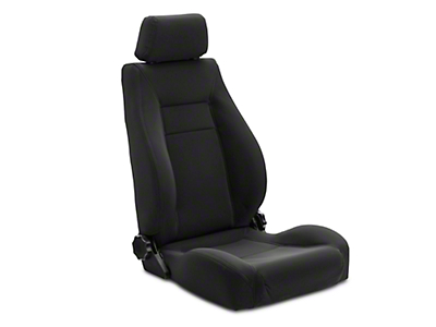 Rugged Ridge XHD Ultra Reclining Front Seat - Black Denim (97-06 Jeep Wrangler TJ)
