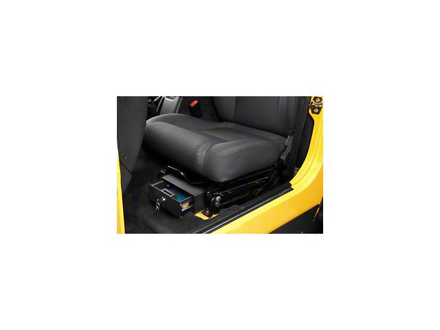Bestop Underseat Lock Box; Driver Side (97-06 Jeep Wrangler TJ)