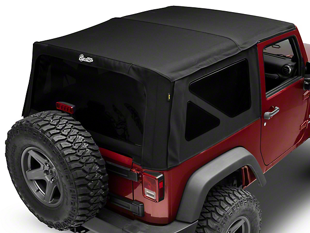 Bestop Supertop NX Soft Top with Tinted Windows; Matte Black Twill (07-18 Jeep Wrangler JK 2 Door)