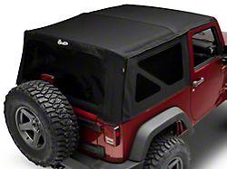 Bestop Supertop NX Soft Top with Tinted Windows; Matte Black Twill (07-18 Jeep Wrangler JK 2 Door)