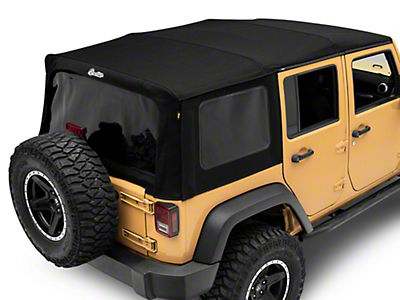 Bestop Supertop NX Soft Top w/ Tinted Windows - Matte Black Twill (07-18 Jeep Wrangler JK 4 Door)