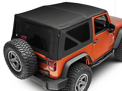 Bestop Replace-A-Top w/ Tinted Windows - Matte Black Twill (10-18 Wrangler JK 2 Door)