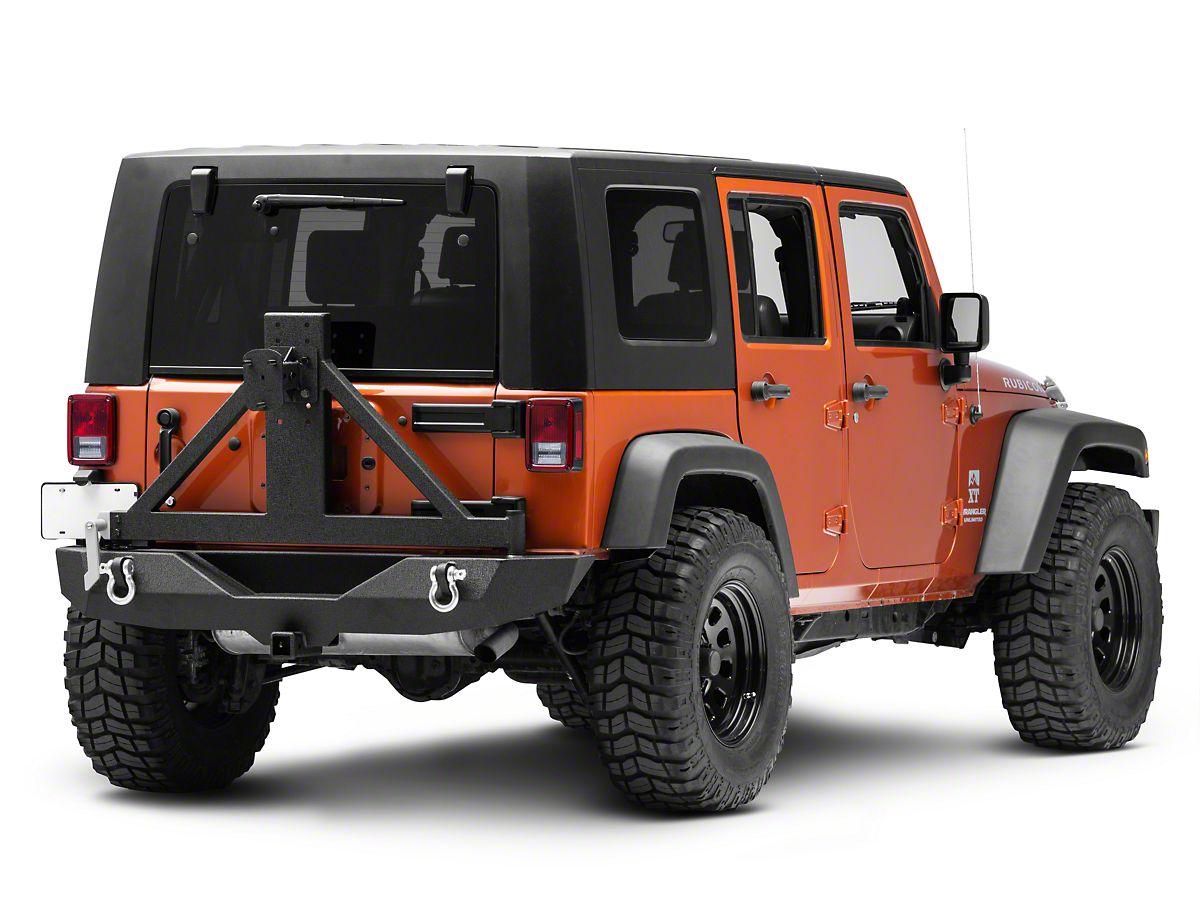 Jeep Wrangler Jk >> Barricade Trail Force Hd Rear Bumper W Tire Carrier 07 18 Jeep Wrangler Jk