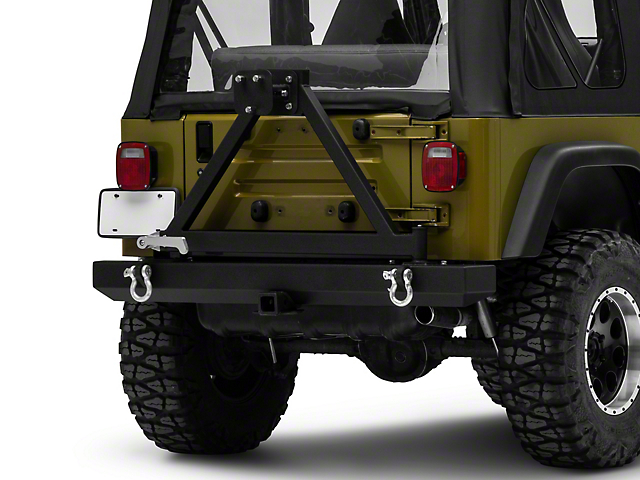 Barricade Classic Rear Bumper with Tire Carrier (87-06 Jeep Wrangler YJ & TJ)